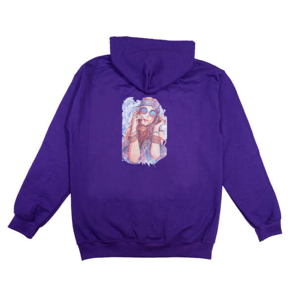 Boho Hippie Purple Hoodie - T Shirt Printing