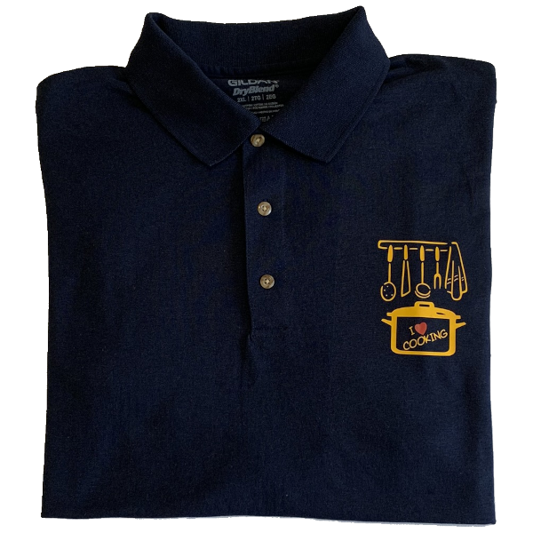 Polo shirt with printed logo