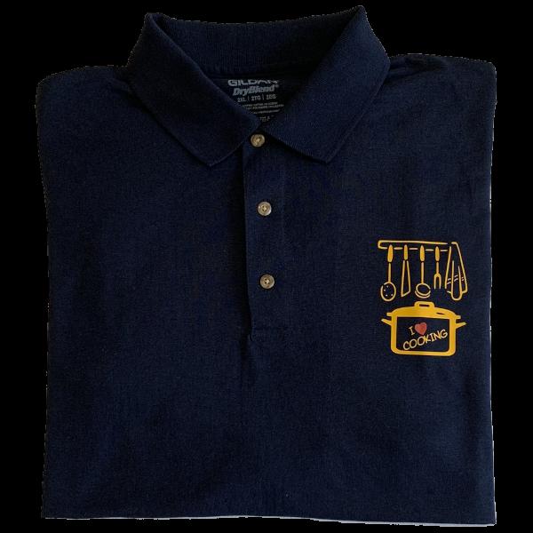 Polo shirt with printed logo